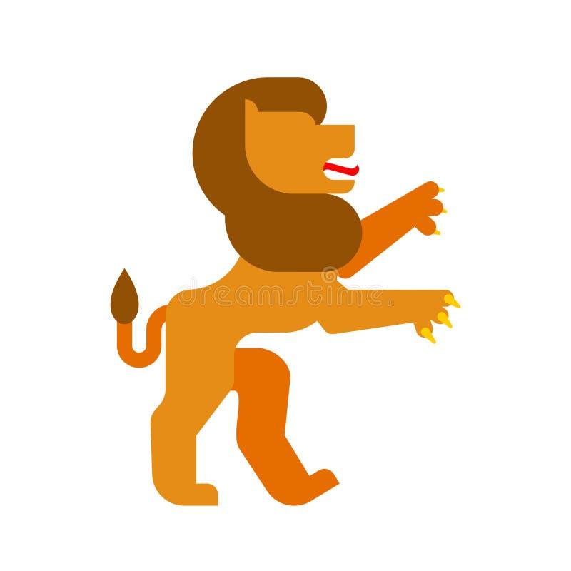 Lion Heraldic-Tier Fantastisches Tier-Monster für Wappen vektor abbildung