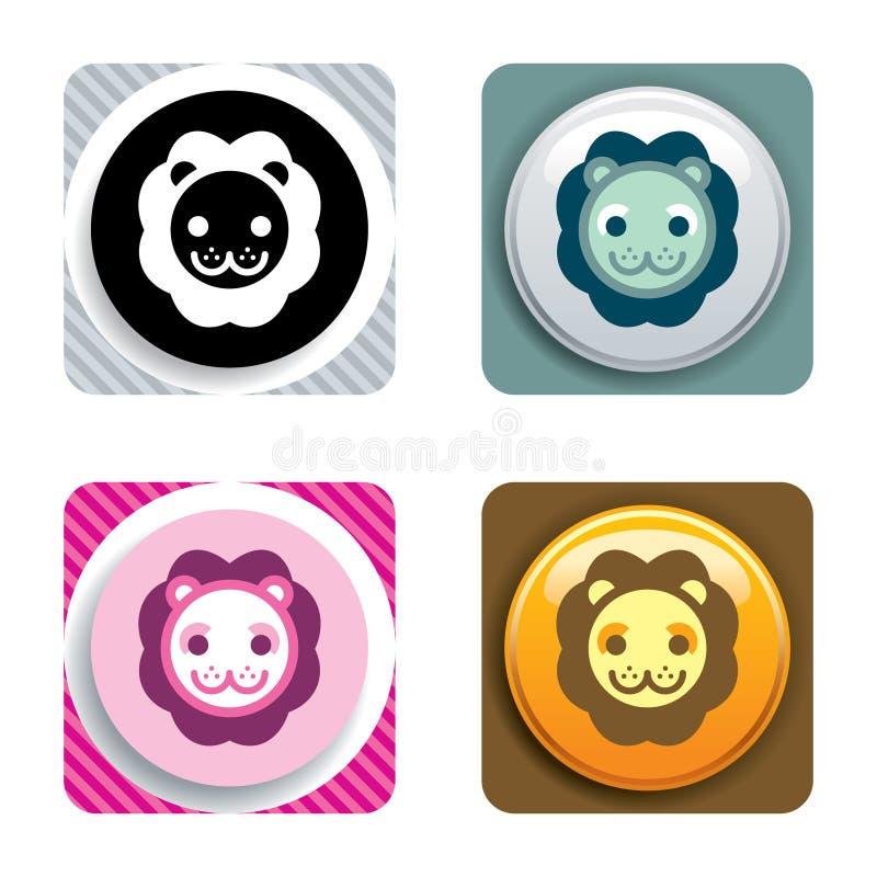 Lion Icon royalty free stock photos