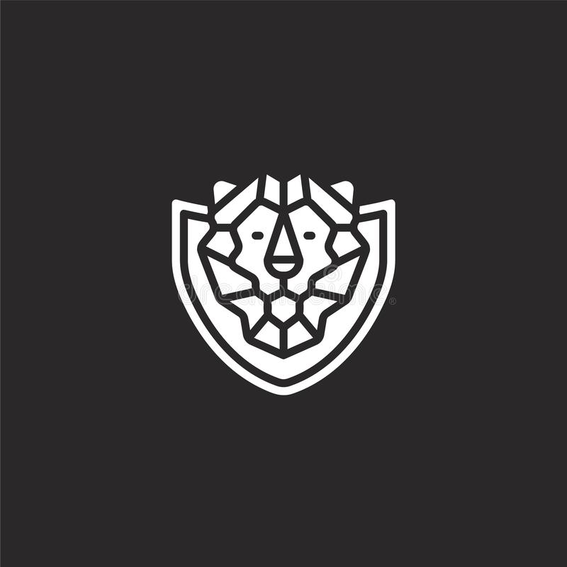 lion icon. Filled lion icon for website design and mobile, app development. lion icon from filled hunting collection isolated on royalty free illustration