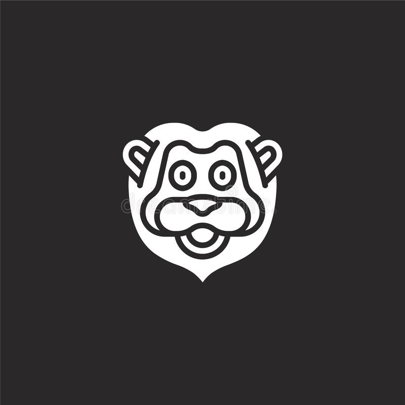 Lion Icon Icono llenado del león para el diseño y el móvil, desarrollo de la página web del app icono del león de la colección an libre illustration