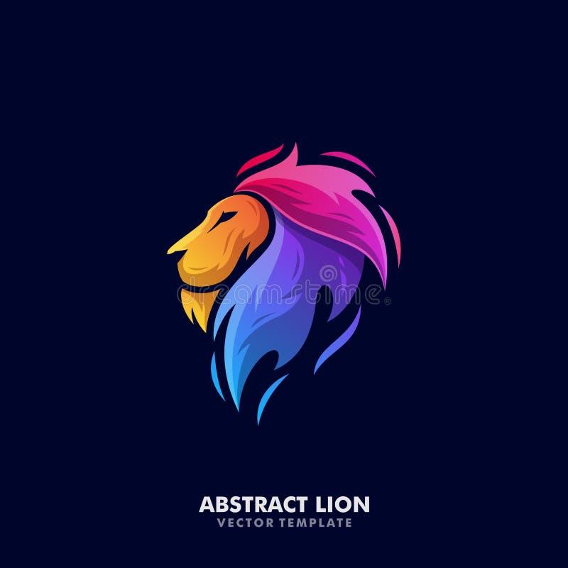 Lion Illustration Vector Template ilustración del vector