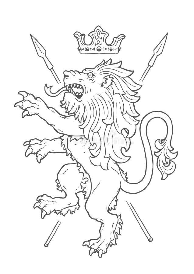 Lion Insignia de combat illustration stock