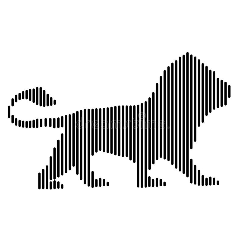 Lion, the king of beasts.  royalty free illustration