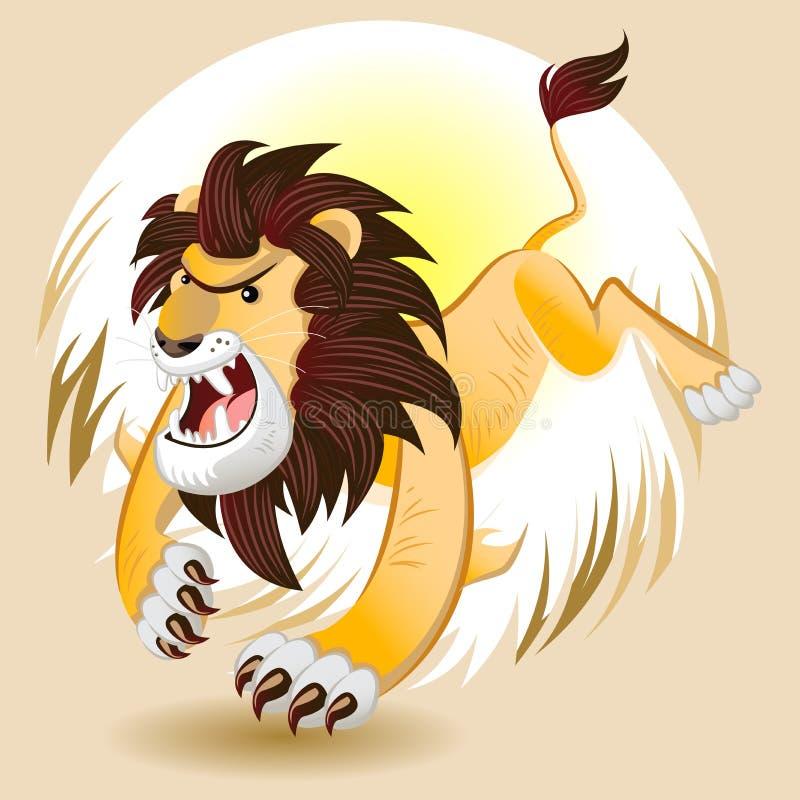 Lion King de la bestia ilustración del vector