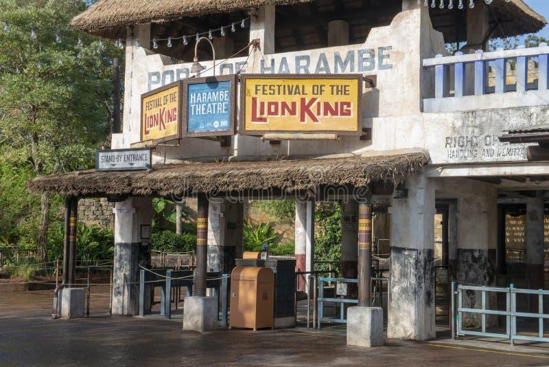 Lion King, Disney World, Reis, Dierenrijk stock afbeelding