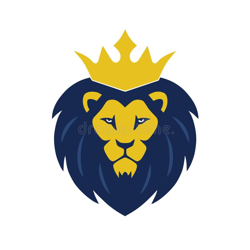 Download Lion King Head Logo With Crown Vector Stock