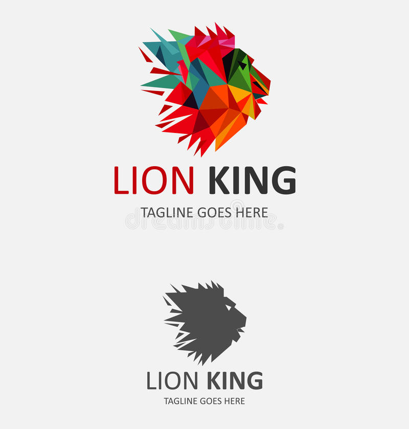 Lion King Logo ilustração do vetor