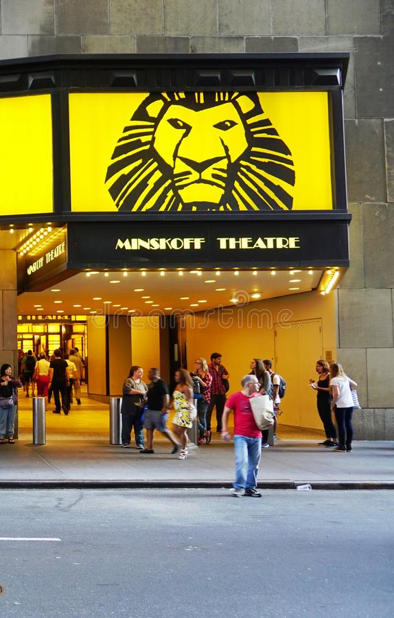 The Lion King Musical At The Minskoff Theater In New York