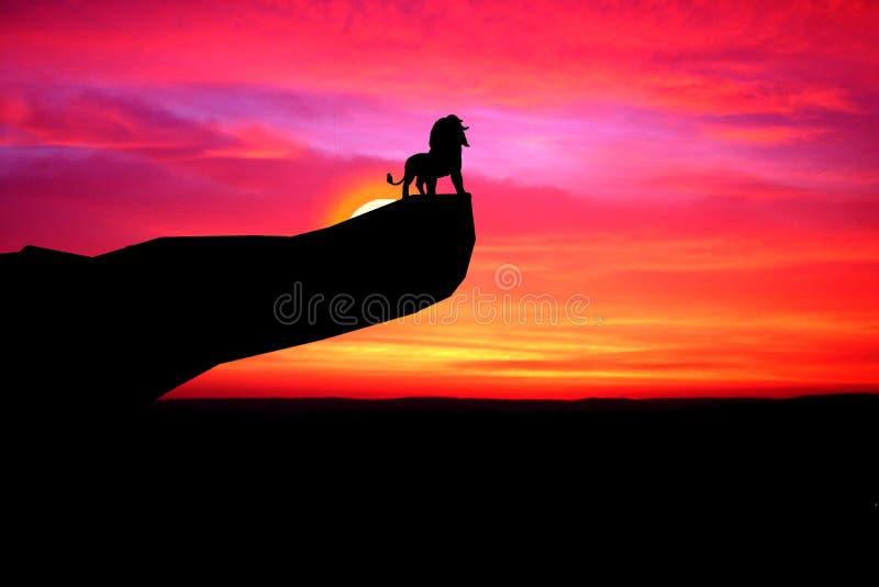 Lion King Sunset Stock Image Image Of Tree Sunrise 32337691