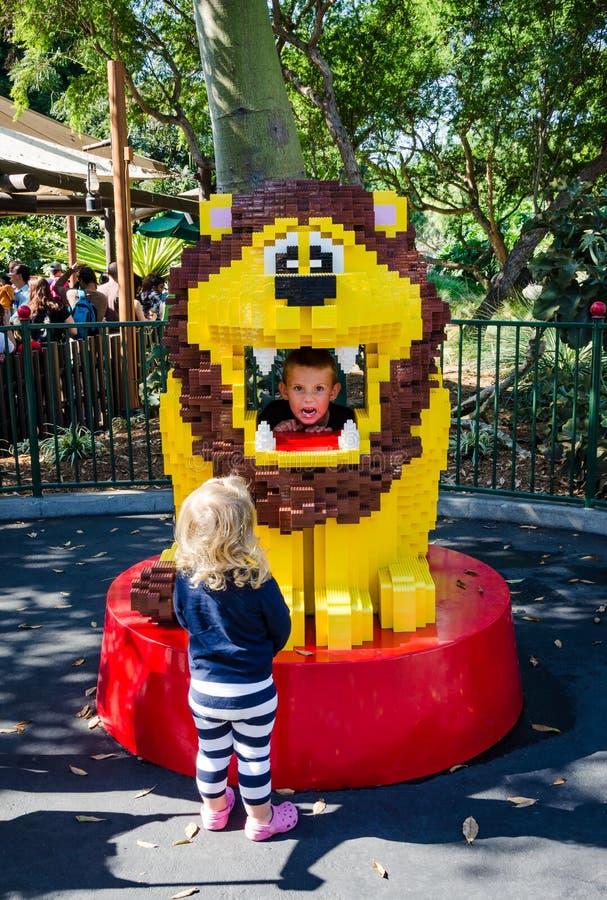 Lion - Legoland California stock image