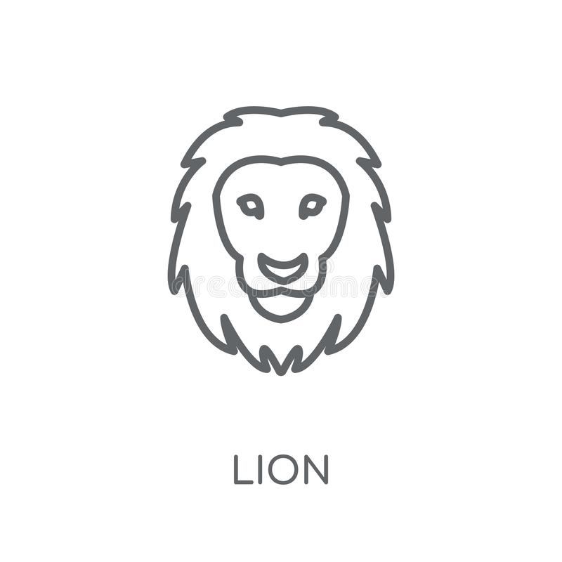 Lion linear icon. Modern outline Lion logo concept on white back. Ground from animals collection. Suitable for use on web apps, mobile apps and print media vector illustration
