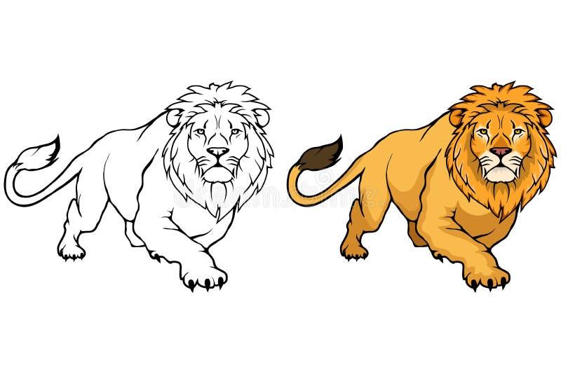 Lion Logo León del animal del vector ilustración del vector