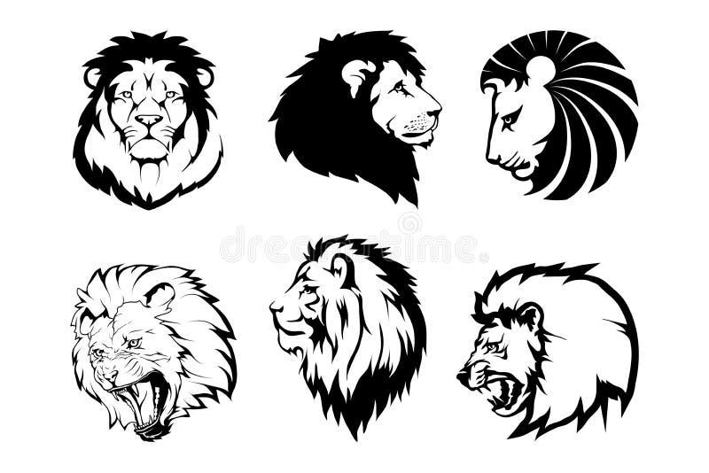 Lion Logo León del animal del vector stock de ilustración