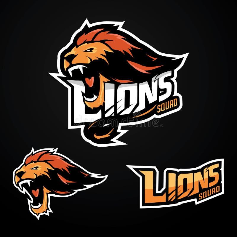 Lion Logo Sport stock de ilustración