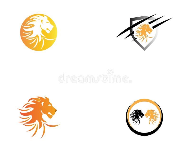 Lion Logo Template-Vektorikone stock abbildung