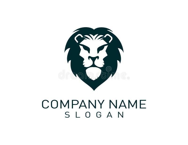 Lion logo 2. Lion logo on white background stock illustration