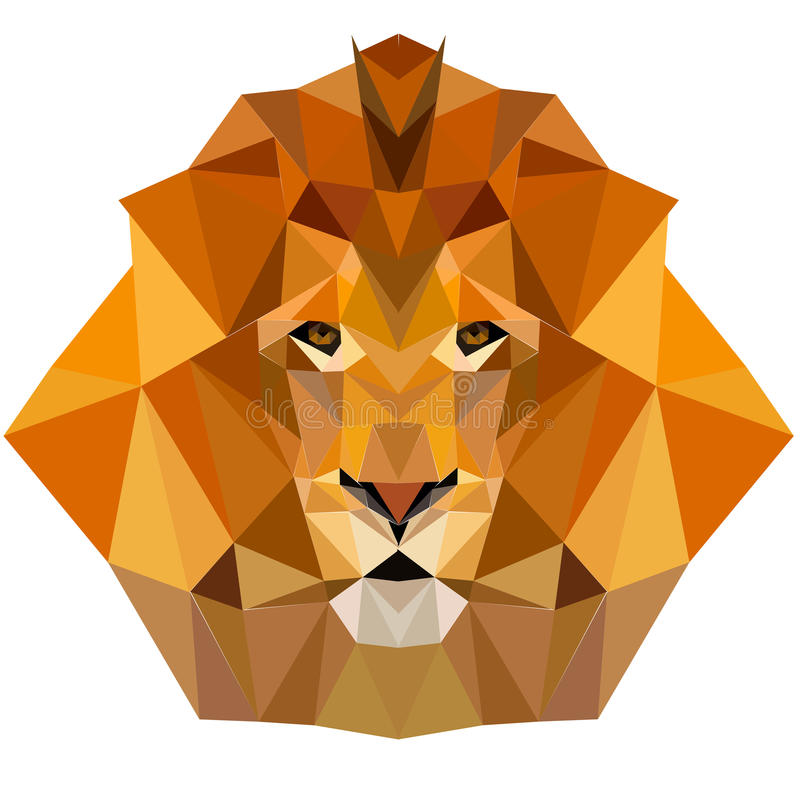 Lion low poly design geometric animal illustration vector royalty free stock photography