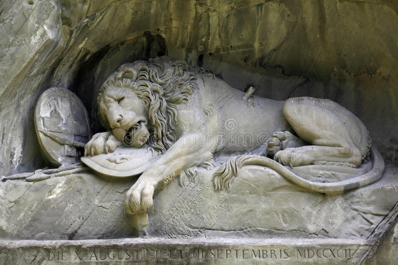 Lion of Lucerne royalty free stock image