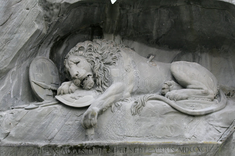 Lion Of Luzern Stock Photography