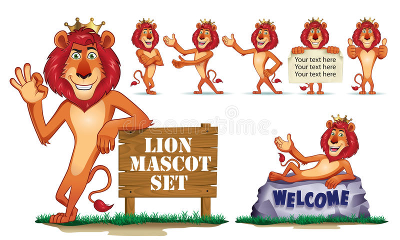 Download Lion Mascot stock vector. Image of predator, cute, lion - 34015522