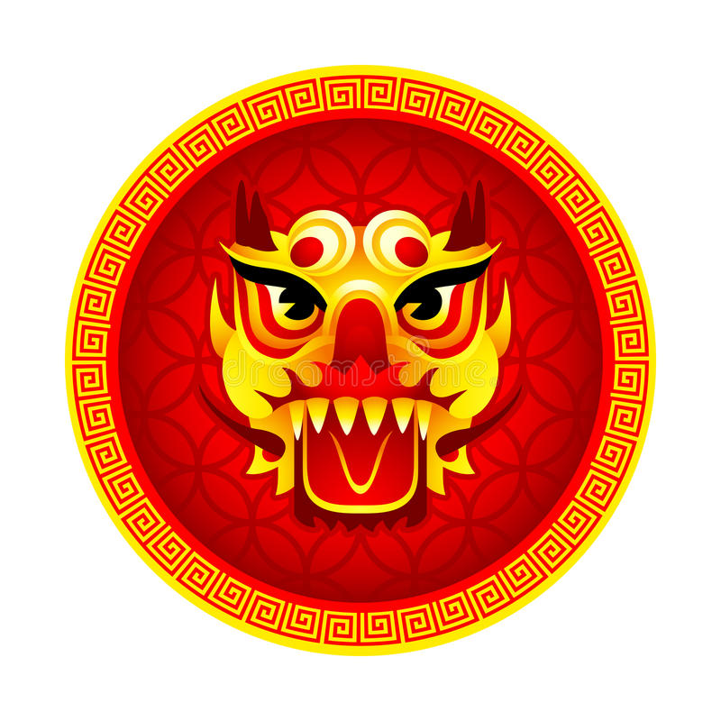Lion mask symbol royalty free illustration