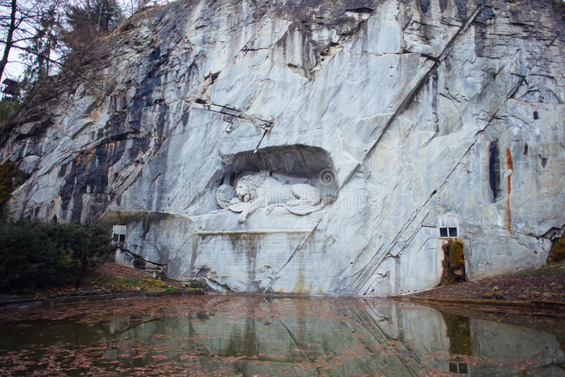 Lion memorial stock photo