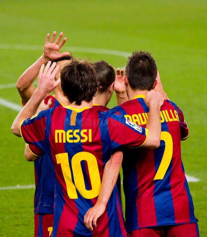 Lion Messi célébrant un but photo stock