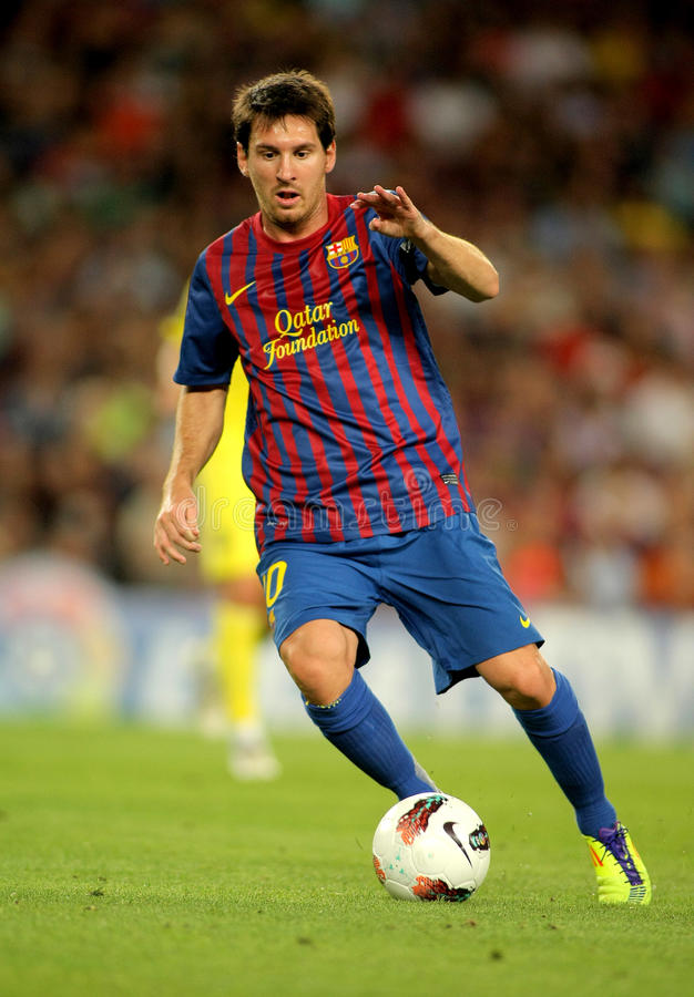 Lion Messi de FC Barcelone photo stock