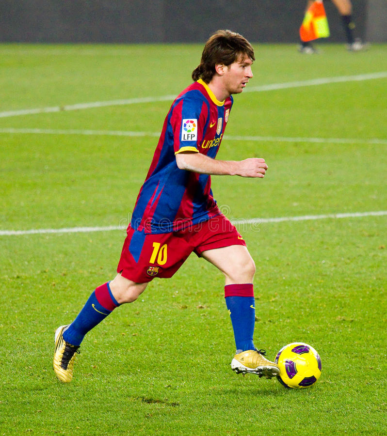 Lion Messi (FC Barcelone) images stock