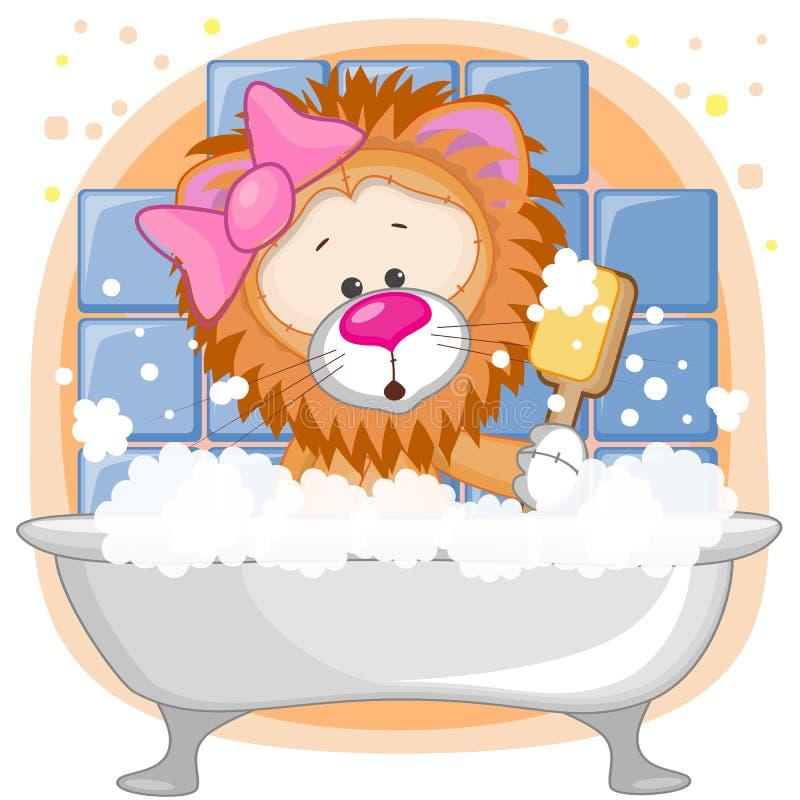 Lion mignon illustration de vecteur