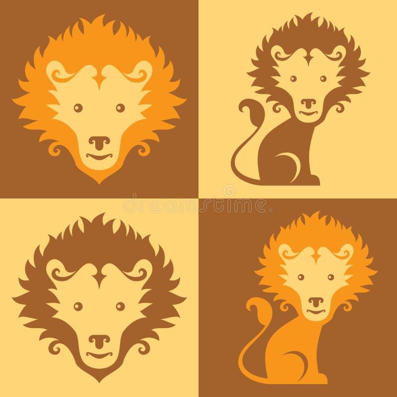 lion mignon d'animal illustration libre de droits