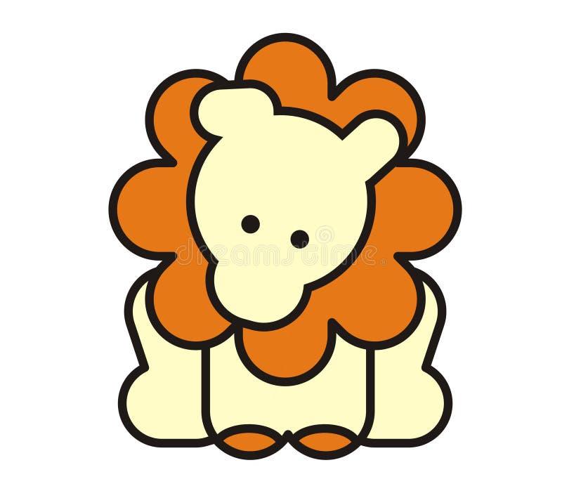 Lion mignon de chéri illustration de vecteur
