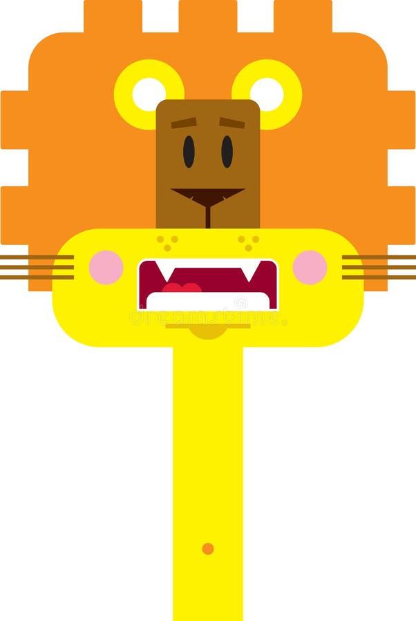 Lion mignon de dessin anim? illustration de vecteur