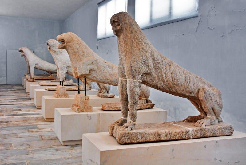 Lion Of Naxians Delos arkivfoto