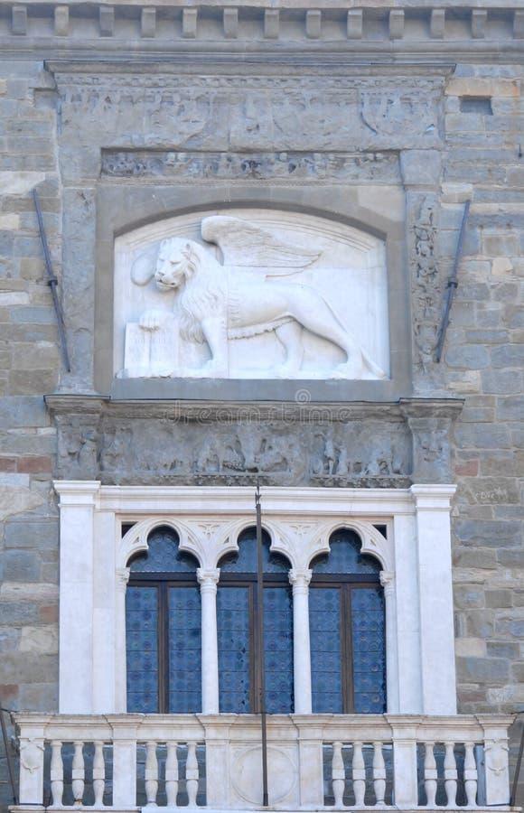 Free Lion Of Venice Over Three Windows Stock Image - 51756971