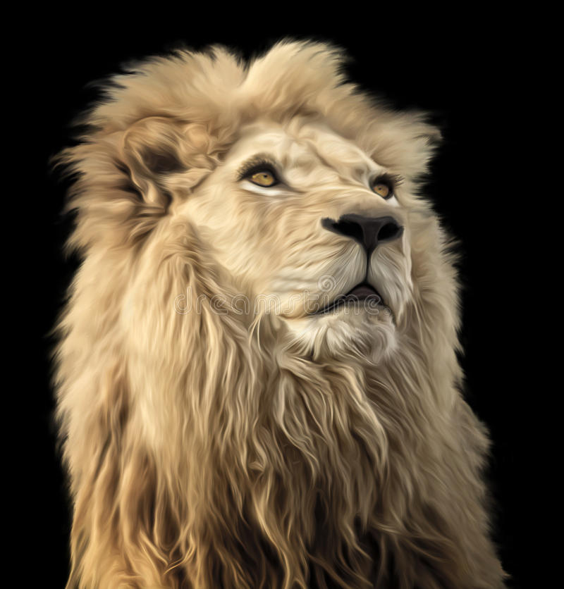 Lion Painting fotografia de stock royalty free