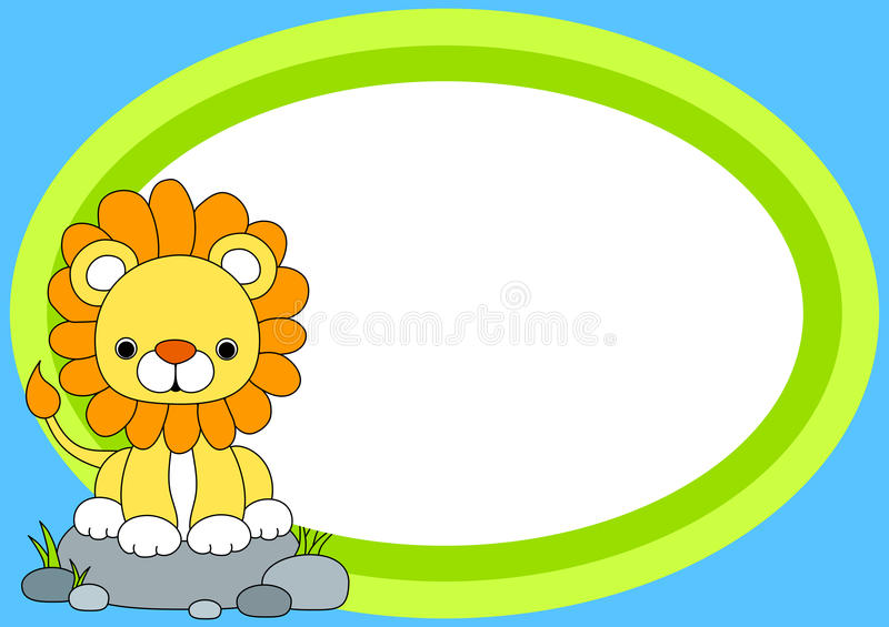 Lion Party Invitation Card vector illustratie