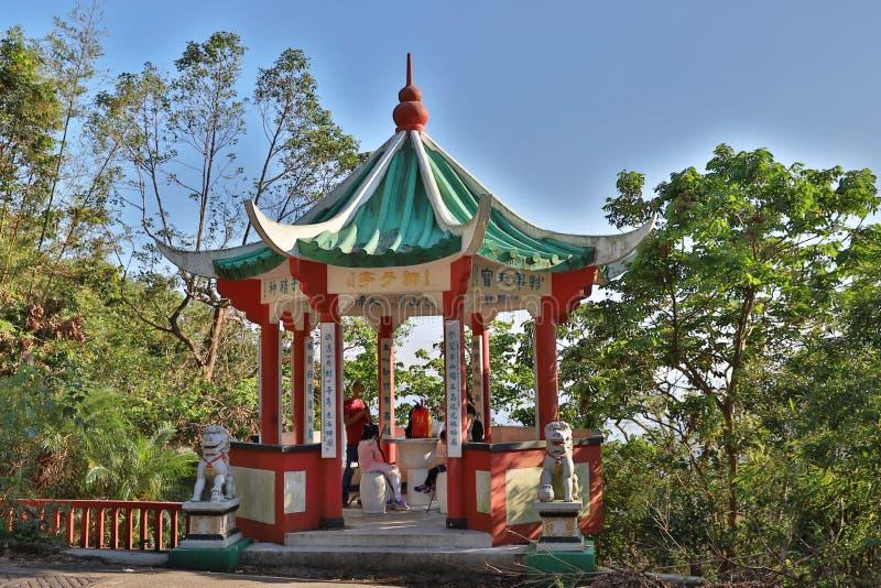 Lion Pavilion al Tsz Wan Shan fotografia stock libera da diritti