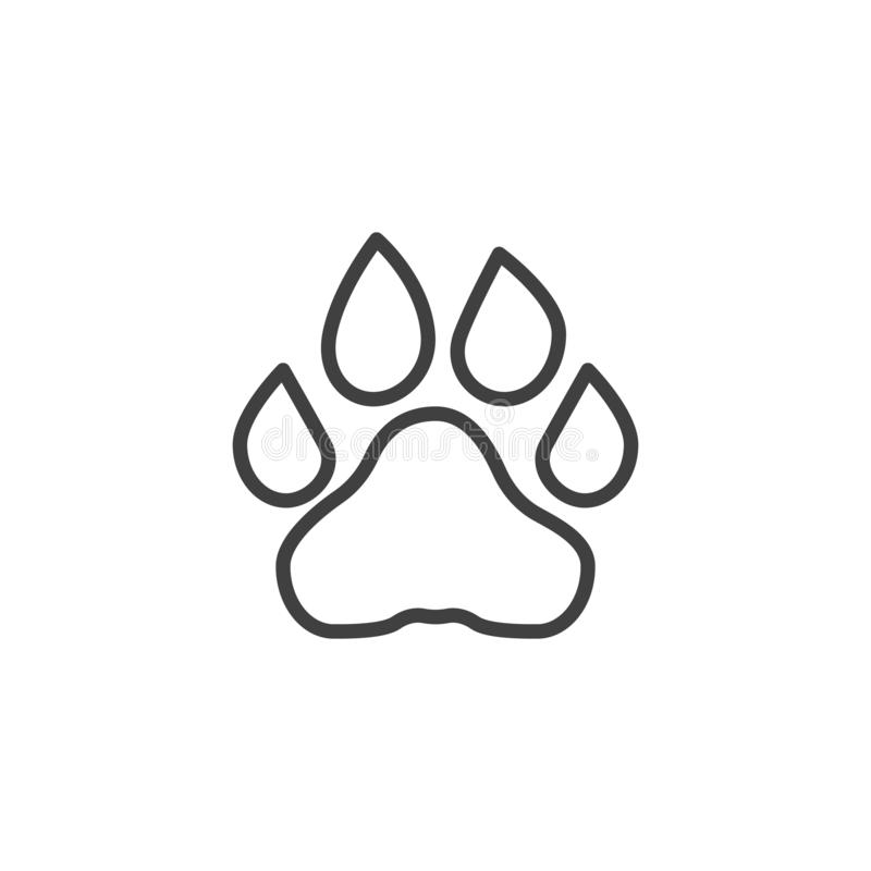 Lion Paw Print Line Icon Stock Vector Illustration Of Outline 163078106 Download 2,403 lion paw free vectors. lion paw print line icon stock vector