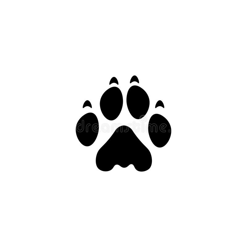 Lion paw print vector icon. On white background royalty free illustration