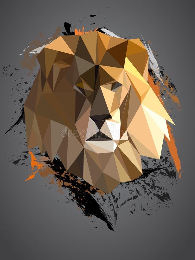 Lion polygonal géométrique illustration stock
