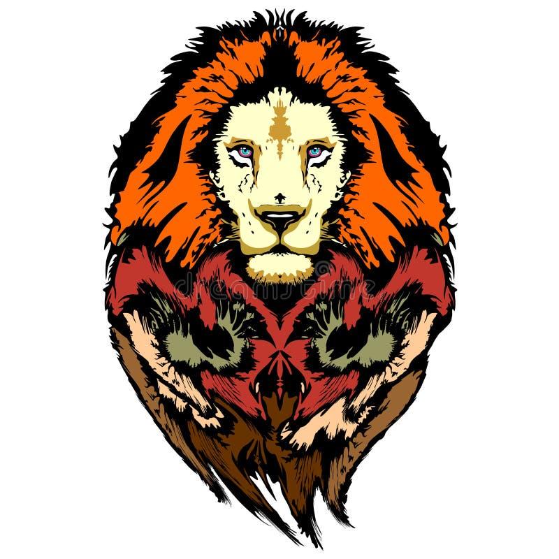 Download Lion Pop Art Wild Look stock vector. Illustration of earth - 62691117