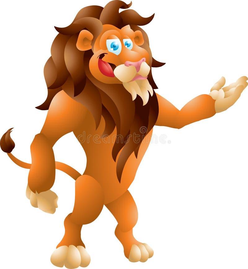 Download Lion presenting stock illustration. Illustration of comic - 34855642