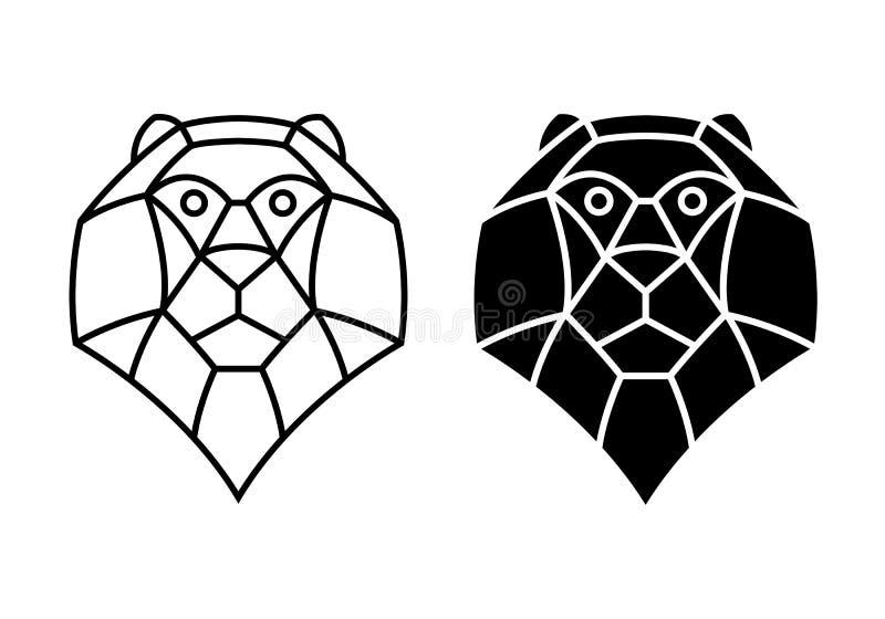 Lion principal graphique, vecteur illustration stock