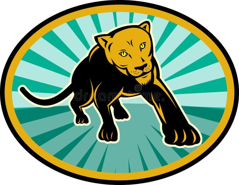 Download Lion Puma Cat Cougar Crawling Stock Vector - Image: 14133294