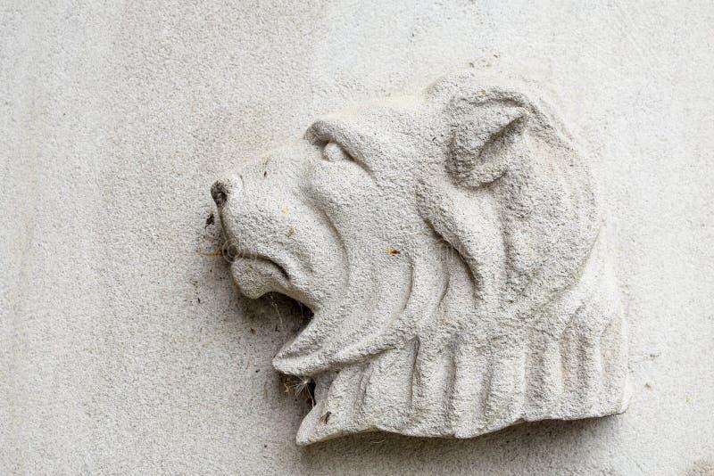 Lion Religious Symbol sur le fond blanc image libre de droits