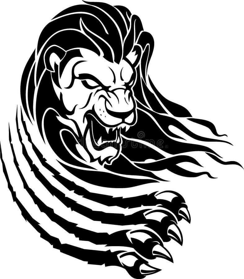 Lion Rip Surface, Front View vector illustratie
