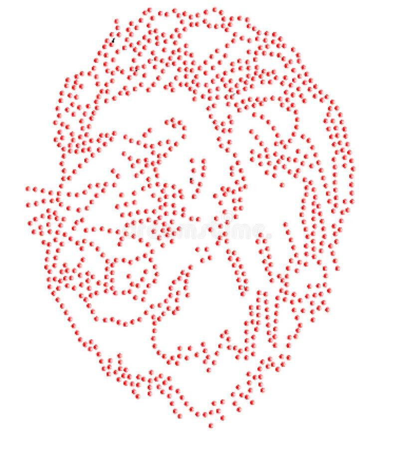 Free Lion Roar Rhinestone Emblem 2mm SS6 Pattern Map Logo Symbol Vector Illustration Heat Press Diy Iron On Plan Cutout Stock Images - 98650884