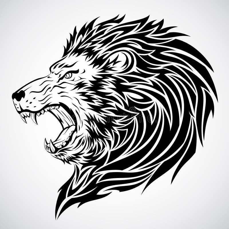 Lion Roar Tattoo royalty free stock photo