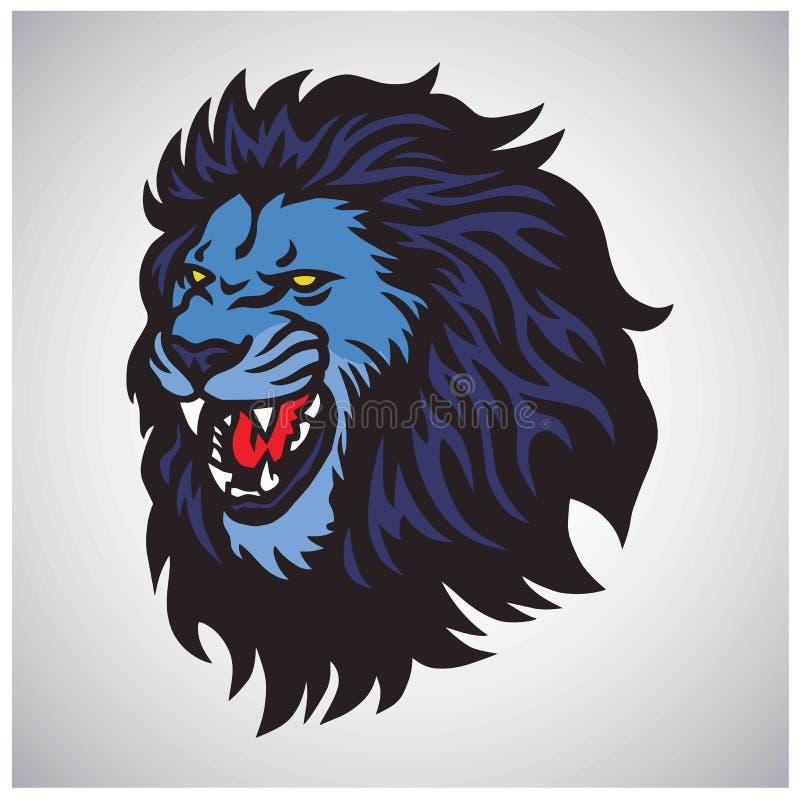 Lion Roaring Mascot Vector Esport-Logo stockfotografie